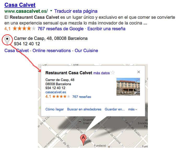 Mapa Casa Calvet